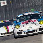 day 2 muhlner porsche 911 gt3 cup the heat tomy drissi detroit saturday 08